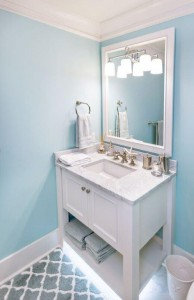 White Carrara Marble Vanity Top